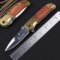 Wholesale New Browning DA69 Folding knife Local tyrants gold HRC CR13MOV Tactical Survival Knife Camping Tools