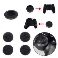 Wholesale Black Set Silicone Key Protector Thumb Grips Joystick Cap Accessories For Playstation PS4 Xbox One Controller