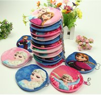 Wholesale 2016 new frozen D cartoon Anna elsa mini purse Plush Purse kids handbag frozen bags for kids girls A