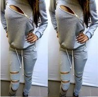 Wholesale 2015 New Style Letters Printed Tracksuits Leisure Suits Sportswear Squares Printed With Sleeves and