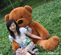 Wholesale GIANT CM Cotton Light Brown Giant cm Cute Plush Teddy Bear Huge Soft TOY