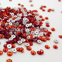 Wholesale 288pcs mm Round Shape Sew On Stone Lt Siam Red Color XILION Lochrose ss20 Sew On rhinestone One middle Hole for wedding dress