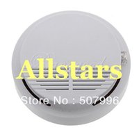 Cheap Free Shipping Brand New White Home Security System Photoelectric Wireless Smoke Detector Fire Alarm