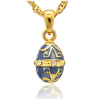 mini greek letter faberge egg pendant handcrafted enamel clear crystal paved russian egg pendant necklace for easter
