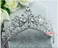 Cheap 2015 May Style Free Shipping Shining Wedding Bridal Crystal Veil Tiara Crown Headband Crown Wedding