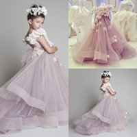 girls pageant dresses - Cutely Krikor Jabotian Children Wedding Dress For Girls Crew Ball Gowns Handmade Flowers Long Pageant Dresses Girls VT