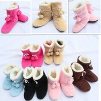 Wholesale Women Super Soft Plush Indoor Shoes Lovely Ball Warm Slippers Home Shoes Floor Socks Indoor Slippers Winter Foot Warmer