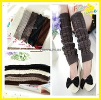 wool boot socks - 2015 NEW Winter Loose Fashion Boot Cuffs Thick Warm Over Knee Wool Knitted Leg Warmers For Women Knee Socks S498