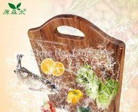 acacia cutting boards - Natural Antibacterial Acacia wood Wooden cutting board chopping block with handle CM