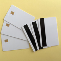 Wholesale 20PCS Sle4442 Chip with Hi Co Magnetic Stripe in Contact Smart IC Blank Card Printable By Zebra Printer