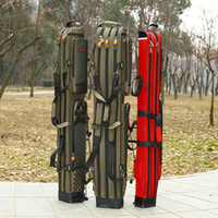 fishing rod bag - Jump leopard fishing bag m Layer pole fishing rod package rod package fishing package with a waterproof hard shell fish bag