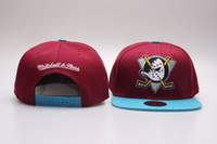 Wholesale Anaheim Ducks Baseball Caps NHL Mighty Ducks Hat Bone Snapback Black Red Hockey Caps