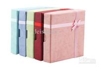 Wholesale Colored jewelry box gift box square box necklace box bracelet box ZB0002