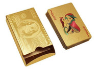 big dollar - 2015 Hot Sale New K Gold Foil Plated Poker Playing Cards Collection Box Euro Dollar General Style For Entetainment Gift Toys