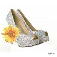 Cheap Formal Wedding Shoes Best High Heel Peep Toe Party Shose