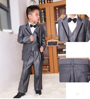 Wholesale Big Boy Clothes Boys Jackets New Children Tuxedos Sets Boy Groomsman Wedding Suits Kids Gentleman Garment