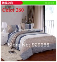 Cheap luxury bedding set bed sets king queen full size 4pcs comfortor cover bed linen quilt cover stripe home textile duvet cover