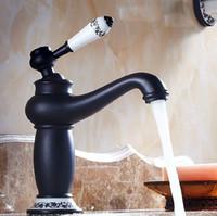 envo gratuito de bao de cobre negro grifo antiguo de moda grifo de lavado grifo de agua caliente y fra lavabo del mezclador del lavabo de la vendimia sy