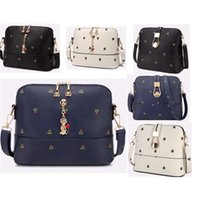 Wholesale New PU Leather Printing Women s Shoulder Bags Fashion Designer Shell Bag Casual Women Messenger Bag Bucket Crossbody Bags