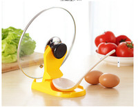 best pot holder - Best price Spoon holder Pot Lid Shelf Cooking Tools Storage Kitchen Decor Tool Stand Holder rack New