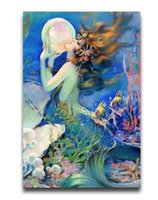 antique military prints - Large Antique Anime Poster Vintage Mermaid Poster Print Poster Silk Wall Poster30x20 inch Big Office Room Prints Mural Decors