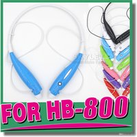 Wholesale HB HB800 Headphone Wireless Stereo Headsets HBS Sport Neckband Earphone in ear OPP Package Without LOGO Pieces DHL