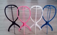 Wholesale New Folding Plastic Stable Durable Wig Hair Hat Cap Holder Stand Display Tools