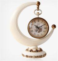 antique bracket clocks - European Crescent Shape Modern Simple Originality Bracket Clock