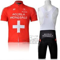 Cheap High quality new limited edition outdoor cheap wear AG2RLA cycling jersey firefighter cycling jersey red short sleeve+bib pants