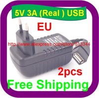 Cheap Wholesale-Free Shipping EU plug 5v 3000mA usb charger for Ainol novo 9 Hero II Spark Firewire quad tablet pc sanei n10 3g