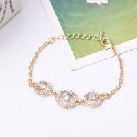 Ordre minimum est $ 9 Nouvel arrivée de mode or plaqué anneau de main avancée bijoux en incrustation de cristal