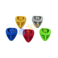 Wholesale 50pcs Colorful Plactic Triangle Guitar Pick Holders Mixed Color Alice Brand