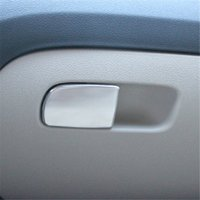 auto accessories store - For Skoda Octavia A7 Stainless steel Car Store content box handle sticker auto accessories pc