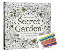 Wholesale 50 set English Version Secret Garden An Inky Treasure Hunt and Coloring Book Adult Children Relax Graffiti Painting Book DHL