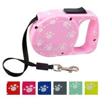 berry dog - pieces Berry M Nylon Colors Retractable Dog Leash Pink Rose Green Yellow