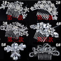 Wholesale Bridal Wedding Tiaras Stunning Fine Comb Bridal Jewelry Accessories Crystal Pearl Hair Brush utterfly hairpin for bride