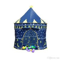 Wholesale 120pcs Children Beach Tent Prince and Princess Palace Castle Children Playing Indoor Outdoor Toy Tent Game House