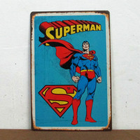 Wholesale Superman Retro Superhero Comics Tin Sign Home Decor Man Cave house number plaques