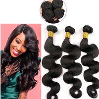 weave bulk - Brazilian Hair Virgin Human Hair Weaves weft inch Body Wave Curly Indian Peruvian Malaysian Detangle Hair Bundles Bulk Extensions