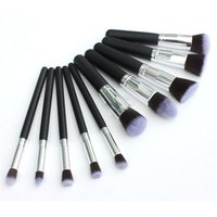 Wholesale HOT Professional Cosmetic Facial Make up Brush Tools Wool Makeup Brushes Set Kit DHL