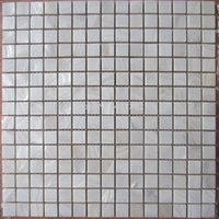 Wholesale Natural shell mosaic bathroom tile puzzle background wall stickers Factory direct sale white shell mosaic tiles mother of pearl