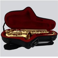 bakelite case - Professional Alto saxophone E flat Antique Copper Simulation Alto Sax High quality Bakelite Mouthpiece Hard Case