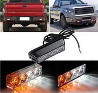 Wholesale 4LED V W Emergency Vehicle Deck Dash Grille Strobe Warning Light White Amber