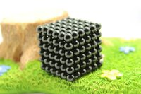 Wholesale Black mm Bucky Balls The Neocube neodymium Toy Neo Cubes Toy Sphere Magnet Magnetic Buckyballs with Metal Box Education Toys