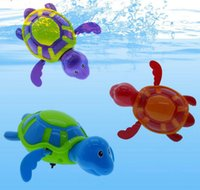 Cheap 2016 Baby Kids Children Bath Toy Swim Turtle Wind-up Baby Toy For Bathroom & Clockwork Dabbling Toy