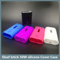 Wholesale Colorful Eleaf Istick W silicone Cover Case Bag Silicone Box Mod colorful Silicon Case Cover Skin Istick W Protective Sleeve