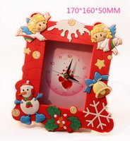 Wholesale Christmas Gift Alarm Clock Frame Desk Table Clocks With Stands Patented Product Adjustable Height DHL