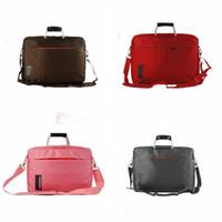 Wholesale LJJG110 England Preppy Inch Laptop Notebook Case Shoulder Bag Messenger Handle Bag Large Capacity Computer Bag Colors Available