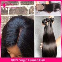 Cheap 3Pcs Virgin Hair With Silk Top Closure Best Silk Straight 4*4 Silk Base Closure