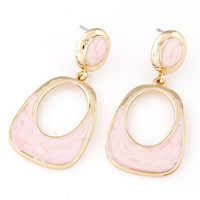 Wholesale 2015 Summer Style Fashion Geometry Enamel Earrings for Women Vintage Brincos Luxury Gold Pendientes Enamel Stud Earrings